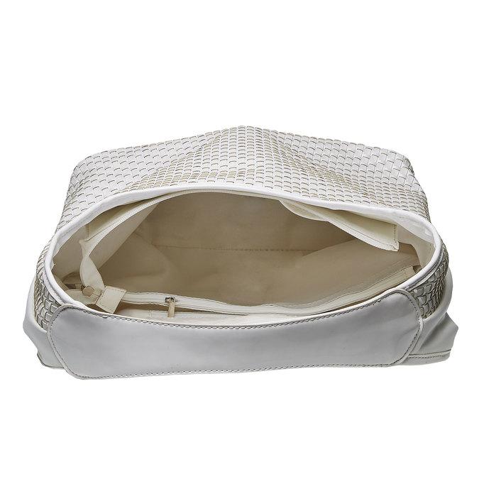 Hobo kabelka v pletenom designe bata, biela, 961-1786 - 15