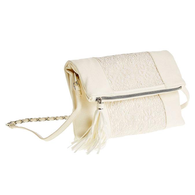 Crossbody kabelka so strapcom bata, béžová, 969-1282 - 13