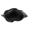 Čierna kabelka v Hobo štýle bata, čierna, 961-6808 - 15