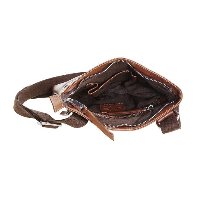 Pánska kožená Crossbody taška bata, hnedá, 964-4184 - 15