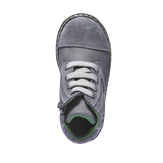Kožené členkové topánky mini-b, šedá, 211-2138 - 19