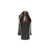 Kožené poltopánky na širokom podpätku bata, hnedá, 794-4636 - 17