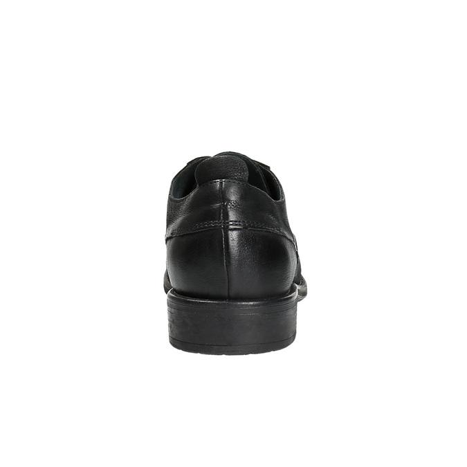 Kožené poltopánky v ležérnom dizajne bata, čierna, 826-6732 - 17