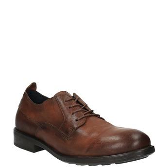 Pánske kožené poltopánky v ležérnom dizajne bata, hnedá, 826-4732 - 13