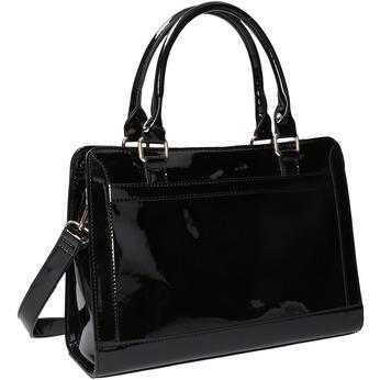 Čierna kabelka so zlatými detailami bata, čierna, 961-6610 - 13