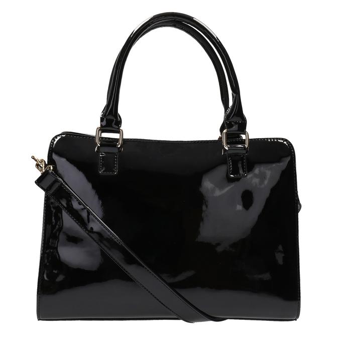 Čierna kabelka so zlatými detailami bata, čierna, 961-6610 - 26