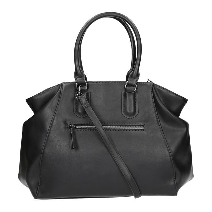 Dámska kabelka s pevnými rúčkami bata, čierna, 961-6702 - 19