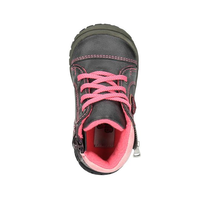 Detská členková obuv bubblegummer, šedá, 121-2611 - 19
