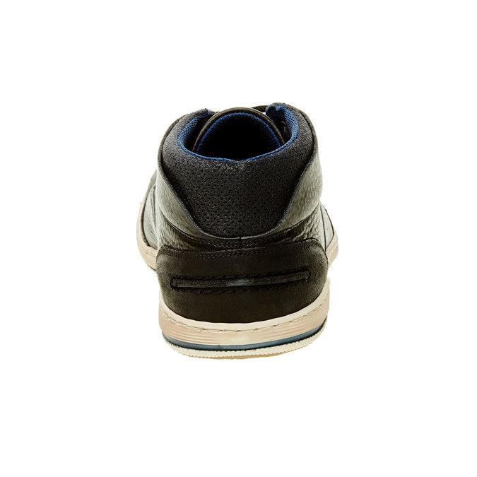 Kožené tenisky k členkom bata, čierna, 844-6620 - 17
