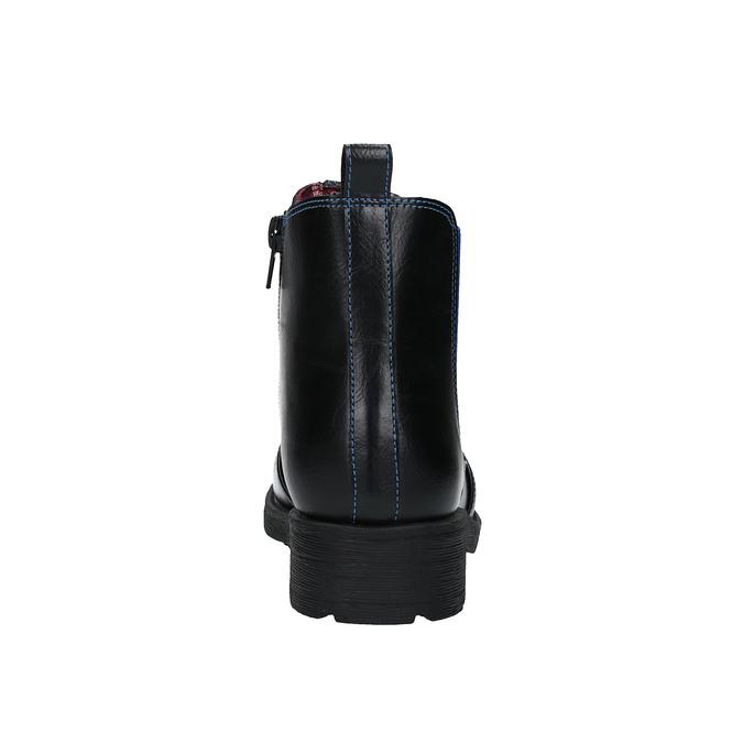 Detská členková obuv s pružným bokom mini-b, čierna, 321-9602 - 17
