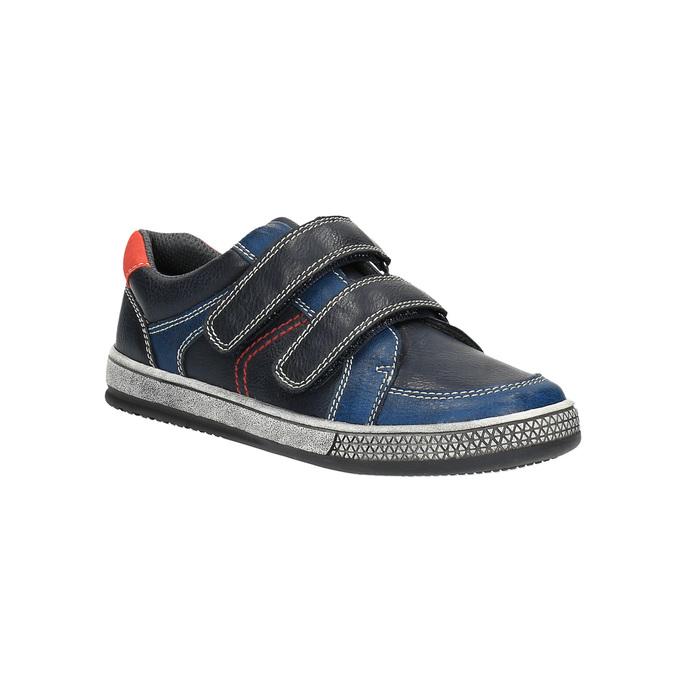 Modré detské tenisky na suchý zips mini-b, modrá, 411-9601 - 13