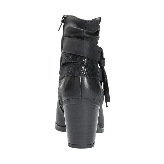 Kožené členkové čižmy vo Western štýle bata, čierna, 696-6610 - 17