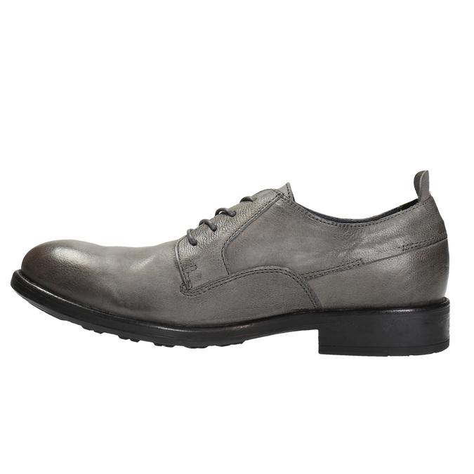 Pánske kožené poltopánky v ležérnom dizajne bata, šedá, 826-2732 - 26