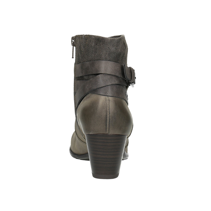 Dámska členková obuv bata, šedá, 696-2617 - 17