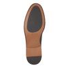 Čierne kožené poltopánky s výrazným obšitím bata, čierna, 824-6684 - 26