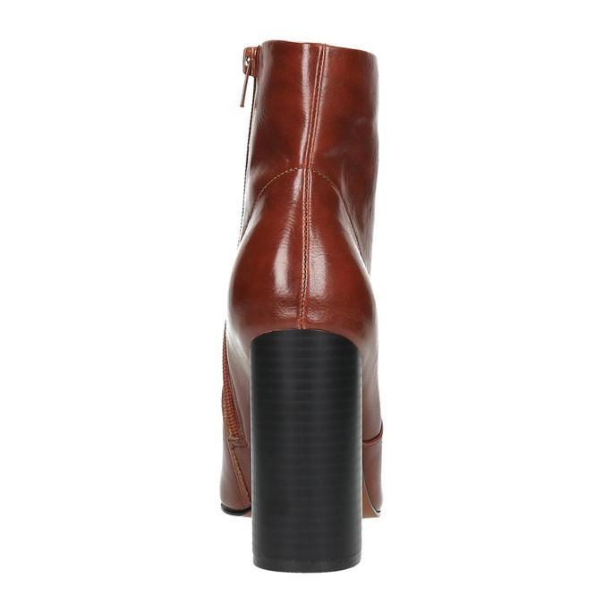 Členková obuv na širokom podpätku bata, hnedá, 791-4611 - 17
