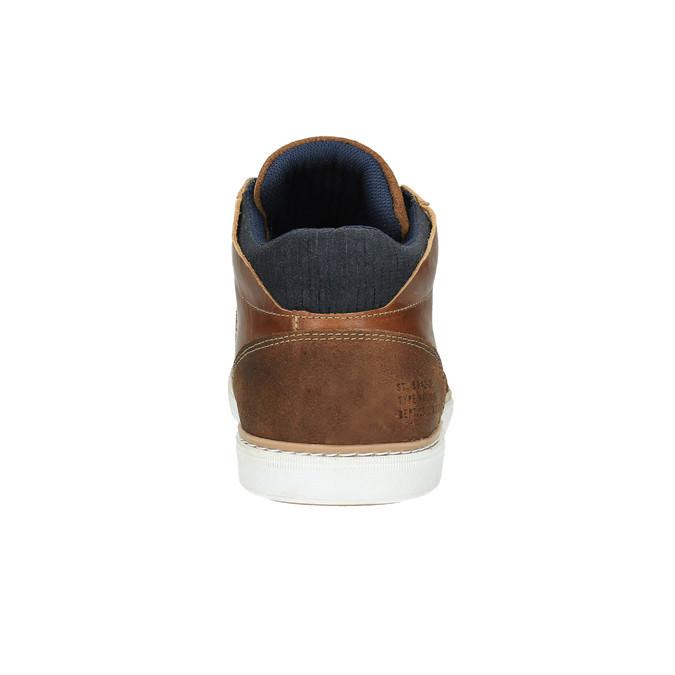 Kožené členkové tenisky bata, hnedá, 844-4621 - 17