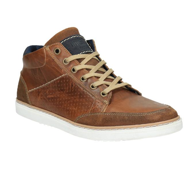 Kožené členkové tenisky bata, hnedá, 844-4621 - 13
