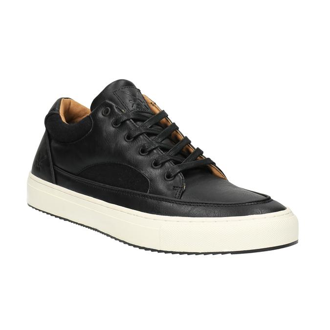 Pánske tenisky na širokej podrážke bata, čierna, 841-6605 - 13