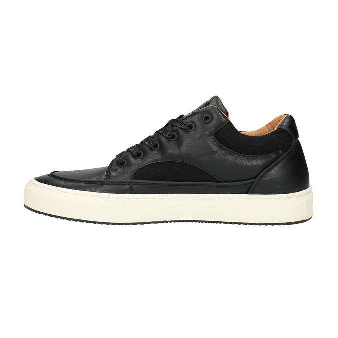 Pánske tenisky na širokej podrážke bata, čierna, 841-6605 - 26