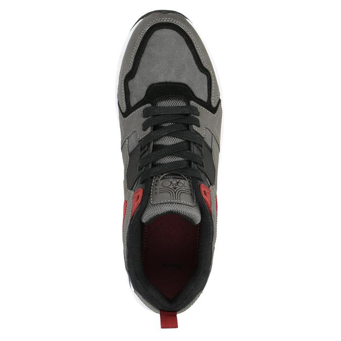 Pánske tenisky na výraznej podrážke bata, šedá, 841-2602 - 19