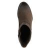 Kožená členková obuv na masívnom podpätku bata, hnedá, 696-4612 - 19