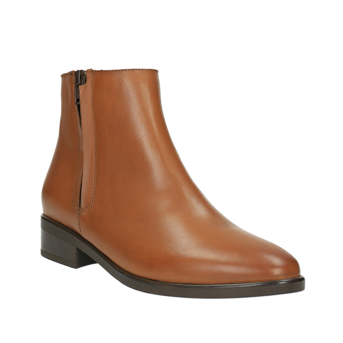 Kožená členková obuv so zipsom bata, hnedá, 594-3518 - 13