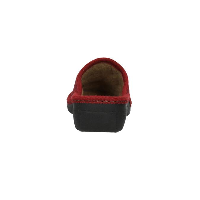 Dámska domáca obuv bata, červená, 579-5348 - 17