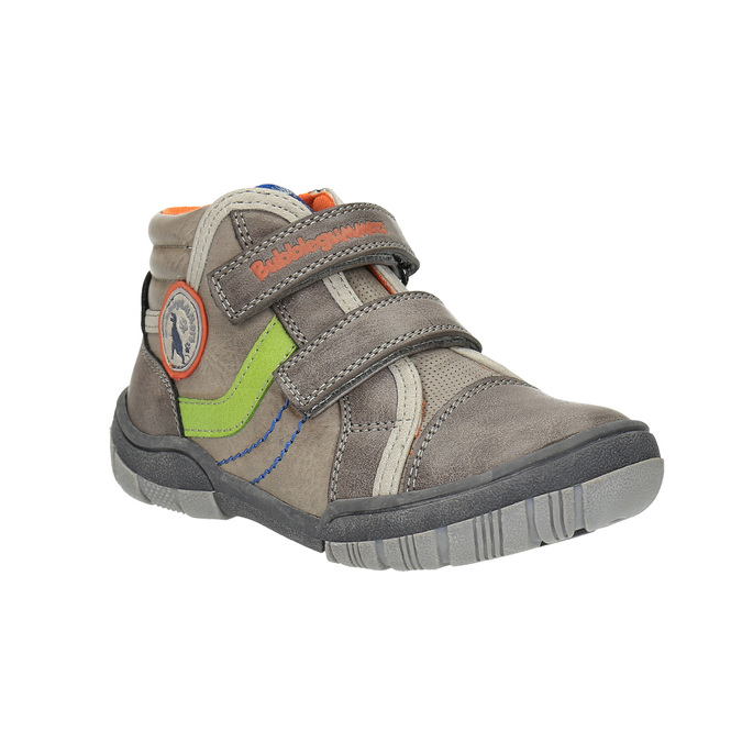 Detská členková obuv na suchý zips mini-b, šedá, 211-2605 - 13