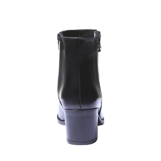 Kožená členková obuv bata, čierna, 794-6566 - 17