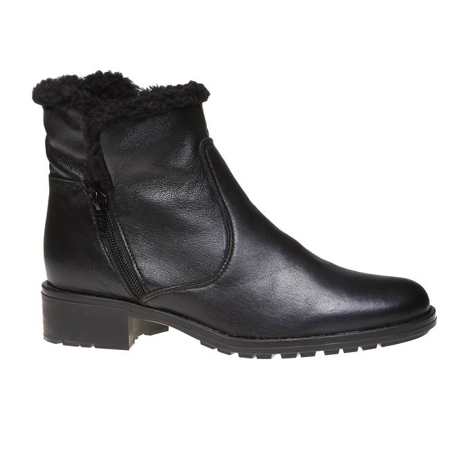 Genie - členková obuv s kožušinkou bata, čierna, 594-6506 - 13