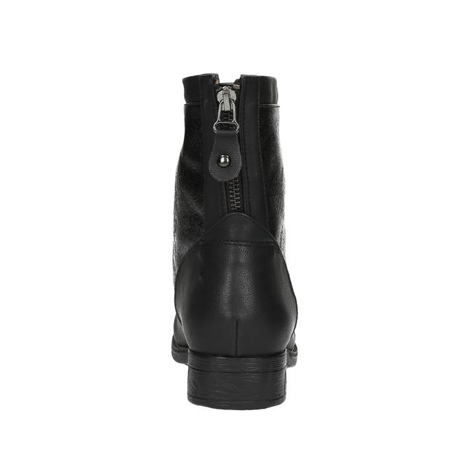 Dámska členková obuv bata, čierna, 591-6609 - 17