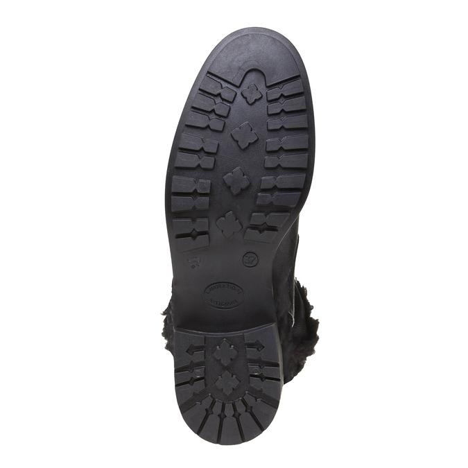 Genie - členková obuv s kožušinkou bata, čierna, 594-6506 - 18