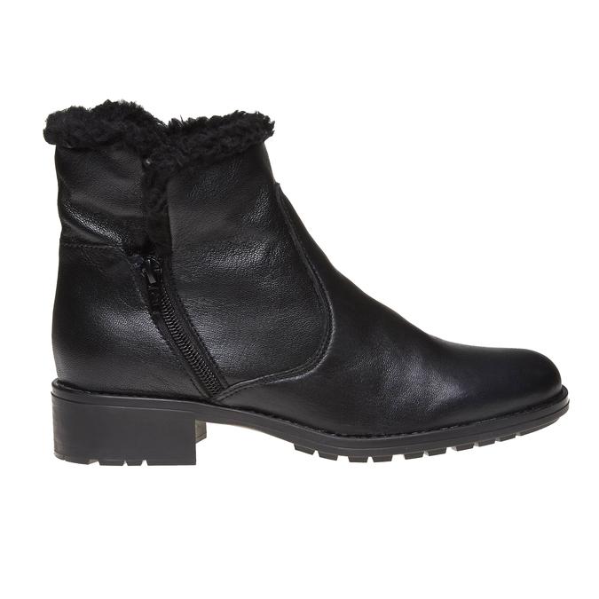 Genie - členková obuv s kožušinkou bata, čierna, 594-6506 - 26