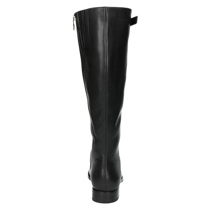 Dámske kožené čižmy so sponou bata, čierna, 596-6630 - 17