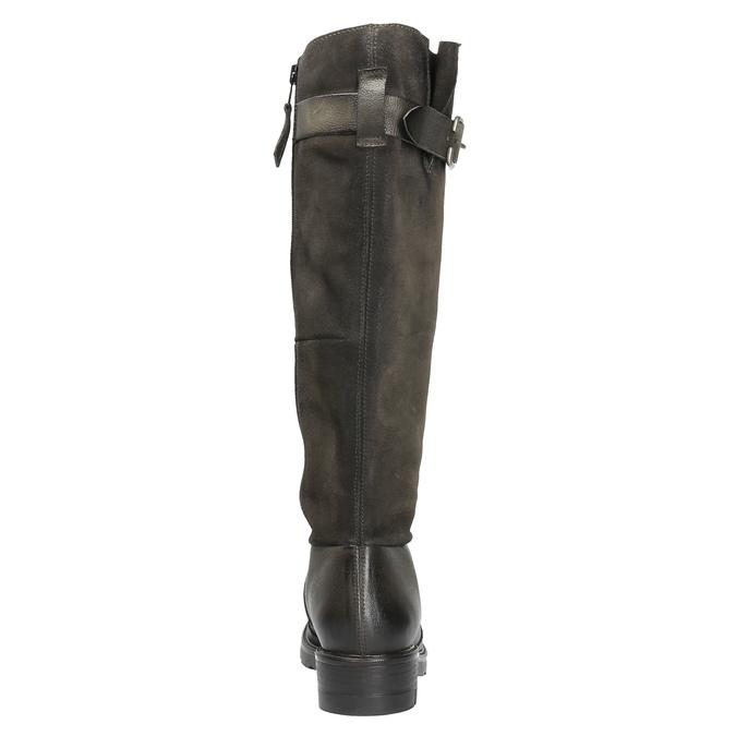 Kožené čižmy na výraznej podrážke bata, hnedá, 596-4618 - 17