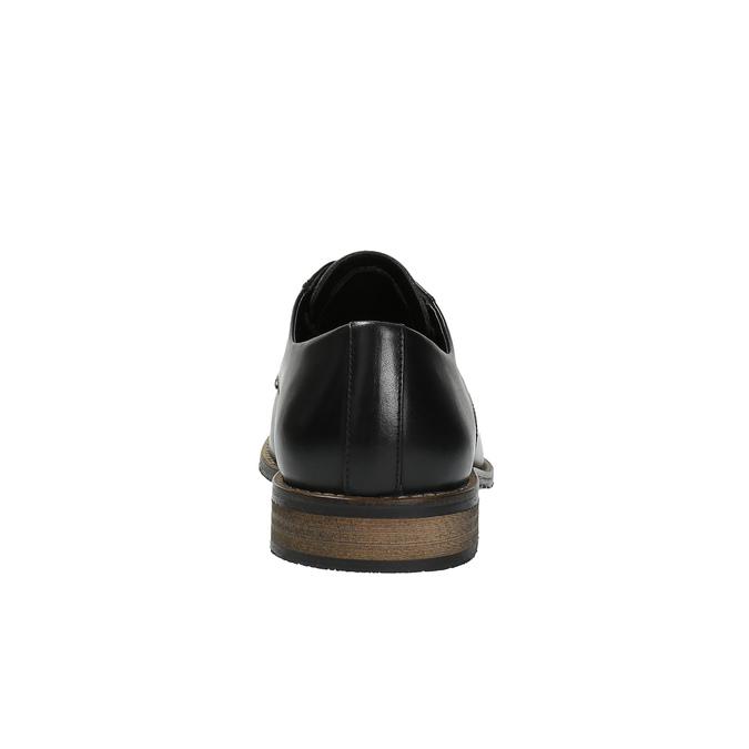 Ležérne kožené poltopánky bata, čierna, 824-6678 - 17