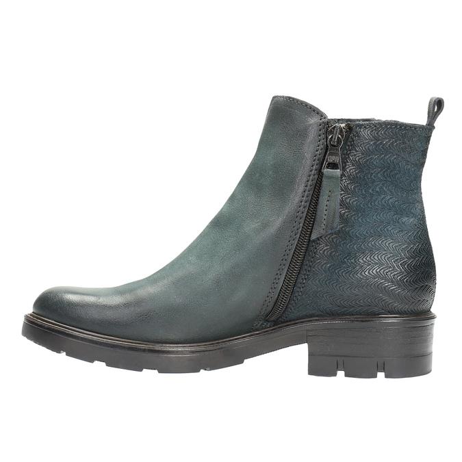 Kožená členková obuv na výraznej podrážke bata, 596-9615 - 26
