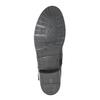 Dámske kožené čižmy s prackou bata, čierna, 596-6141 - 26