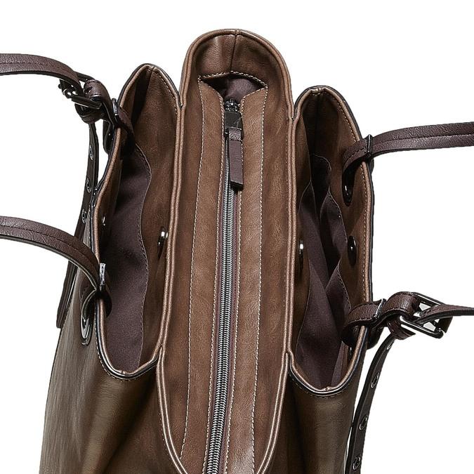 Hnedá dámska kabelka bata, šedá, 961-2123 - 17