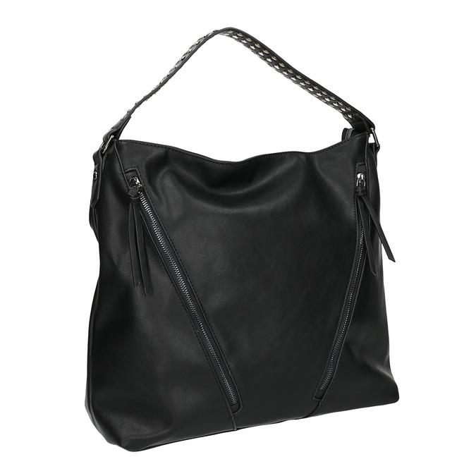 Dámska kabelka so zipsami bata, čierna, 961-6127 - 13