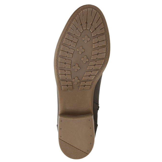 Dámske čižmy na nízkom podpätku bata, hnedá, 691-4600 - 19