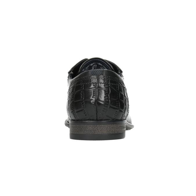 Pánske kožené poltopánky bugatti, čierna, 824-6011 - 17