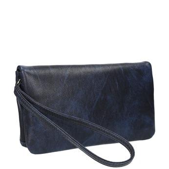 Dámska listová kabelka s remienkom na zápestí bata, modrá, 961-9668 - 13