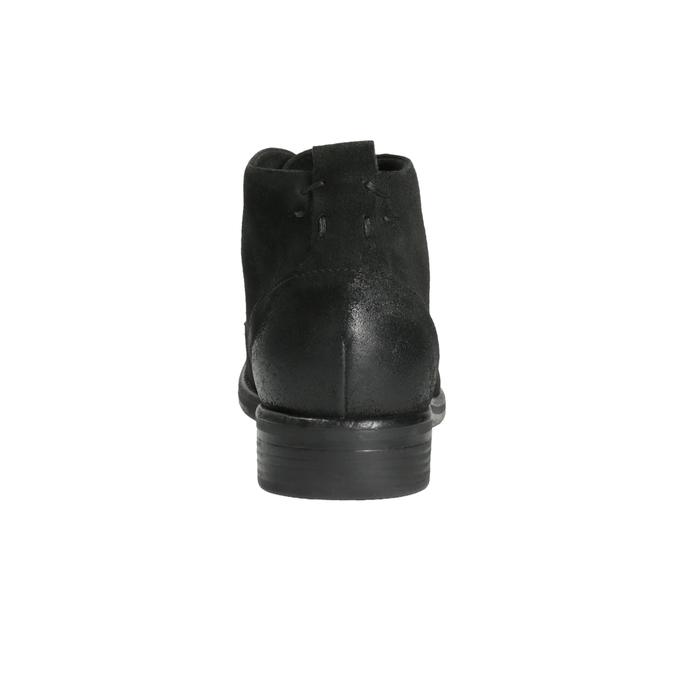 Členková obuv z brúsenej kože bata, čierna, 846-9611 - 17