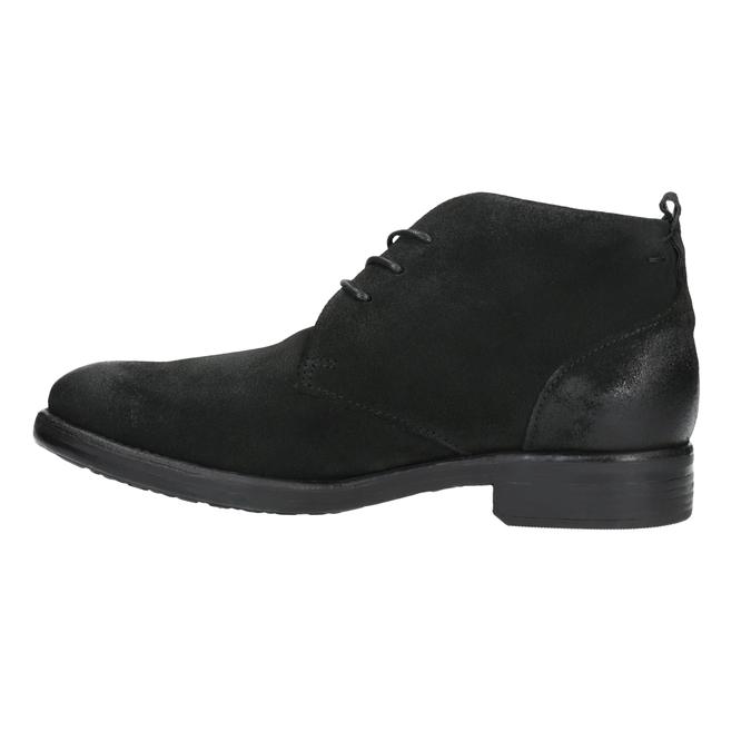 Členková obuv z brúsenej kože bata, čierna, 846-9611 - 26