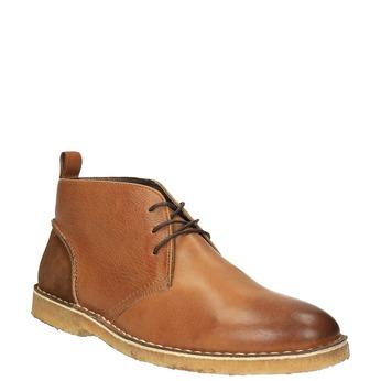 Kožené Chukka Boots bata, hnedá, 824-3665 - 13