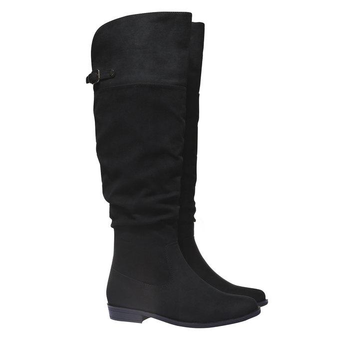Čižmy na nízkom podpätku bata, čierna, 599-6105 - 26