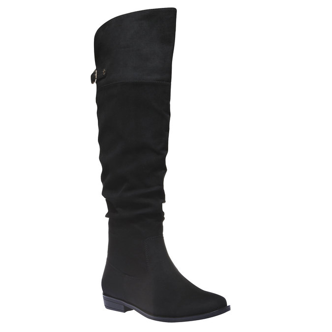 Čižmy na nízkom podpätku bata, čierna, 599-6105 - 13