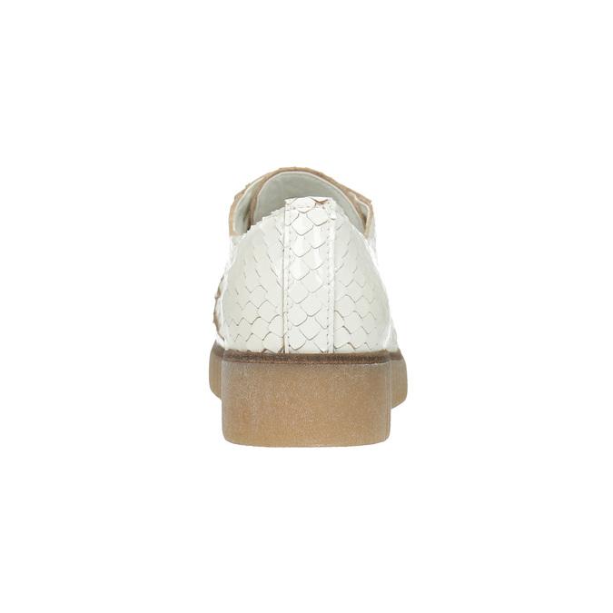 Svetlé kožené poltopánky bata, biela, 526-1613 - 17